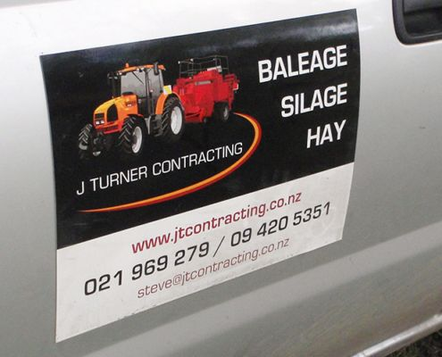 farm contractor vehicle sign design