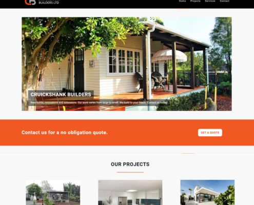 Cruickshank Builders website design