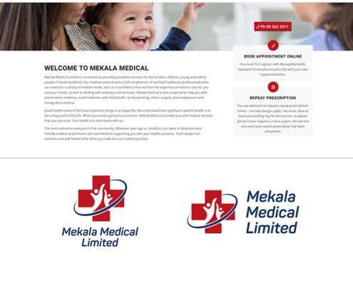 Mekala medical website design